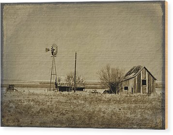 Little House On The Prairie Wood Print by Melany Sarafis