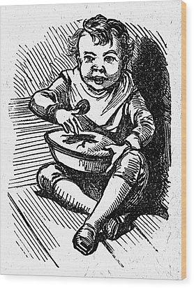 Little Jack Horner Wood Print by Granger