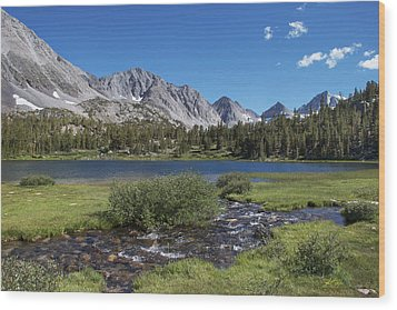 Little Lakes Valley Wood Print