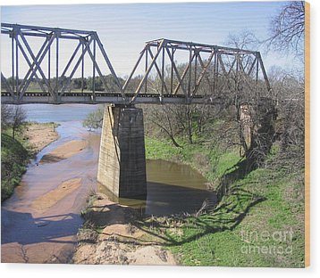 Wood Print featuring the photograph Little Llano Creek by Mark Robbins