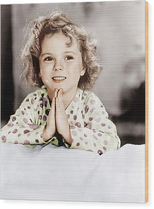 Little Miss Marker, Shirley Temple, 1934 Wood Print by Everett