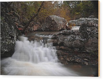 Wood Print featuring the photograph Little Missouri Falls by Renee Hardison