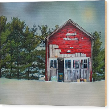 Wood Print featuring the photograph Little Red Shed by Mary Timman