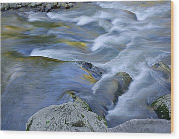 Little River Great Smoky Mountains Wood Print by Dean Pennala