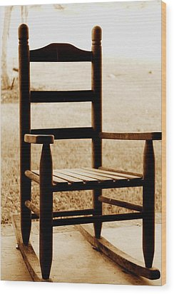 Little Rocking Chair Wood Print by Hannah Miller