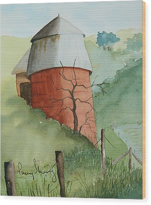Little Silo Wood Print
