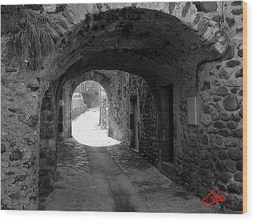 Little Street La Roche Alba Ardeche France Wood Print by Colette V Hera  Guggenheim
