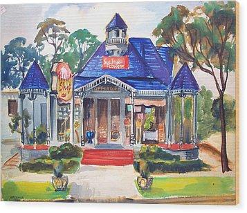 Little Town Flower Shop Wood Print by Bill Joseph  Markowski