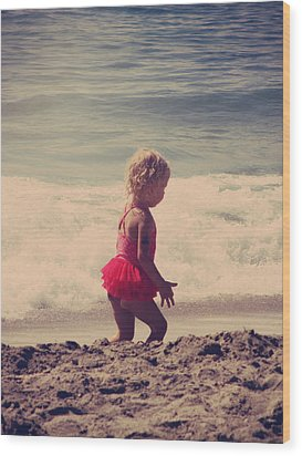 Little Tutu Wood Print by Laurie Search