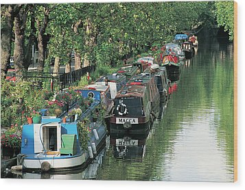 Little Venice, London, England Wood Print by Keith Mcgregor