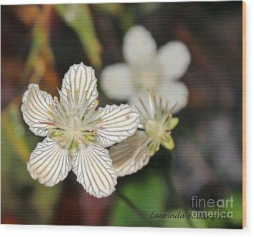 Little Wildflower Wood Print by Laurinda Bowling