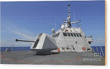 Littoral Combat Ship Uss Freedom Wood Print by Stocktrek Images