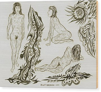 Live Nude 17 Female Wood Print