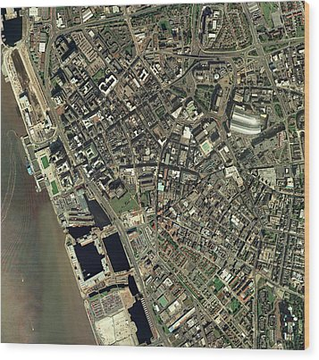 Liverpool, Uk, Aerial Image Wood Print by Getmapping Plc