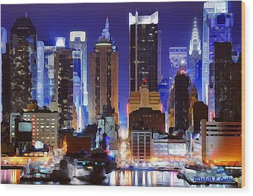 Living For The City Wood Print by Elizabeth Coats