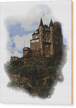 Living On The Rhine Wood Print by Cecil Fuselier