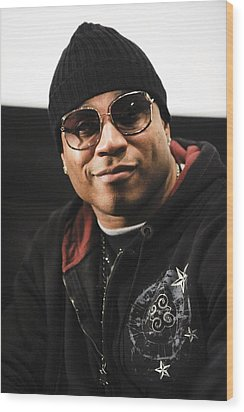 Ll Cool J At The Press Conference Wood Print by Everett