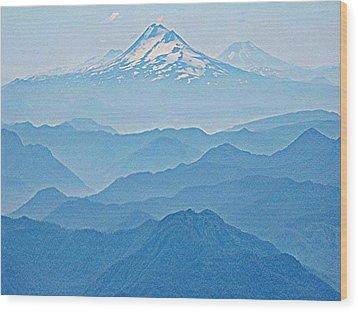 Llaima From Villarica Wood Print