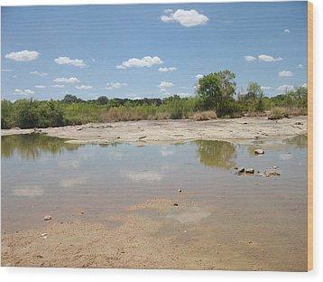 Llano River 'the Slab' Wood Print by Elizabeth Sullivan