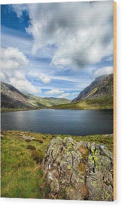Llyn Idwal Lake Wood Print by Adrian Evans