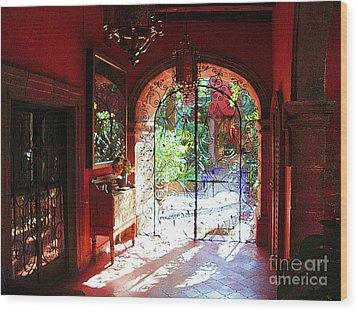 Wood Print featuring the photograph Lobby Enhanced by John  Kolenberg