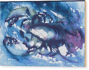 Lobster Wood Print by Edi Holley