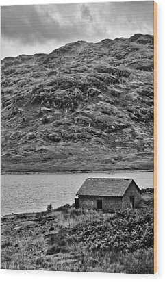 Loch Arklet Boathouse Wood Print by Chris Thaxter