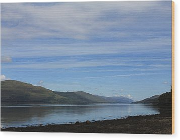 Wood Print featuring the photograph Loch Linnhe by David Grant