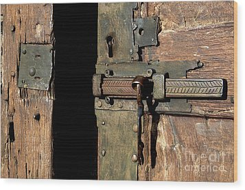 Lock Of Church. France Wood Print by Bernard Jaubert