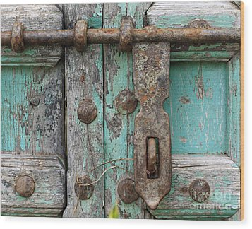 Wood Print featuring the photograph Lock The Door by Denise Pohl