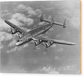 Lockheed Constellation Wood Print by Photo Researchers