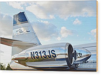 Lockheed Jet Star Wood Print by Lynda Dawson-Youngclaus