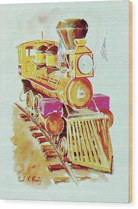 Locomotive Wood Print by Frank Hunter