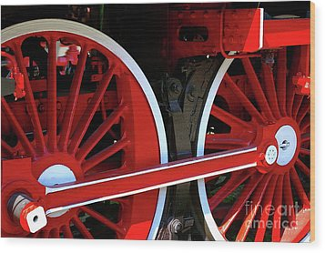 Locomotive Wheels Wood Print