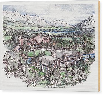 Lodge Wood Print by Andrew Drozdowicz
