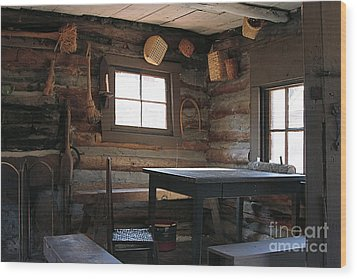 Wood Print featuring the photograph Log Cabin by Nicola Fiscarelli