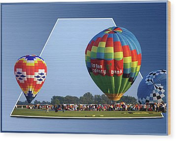 Logan County Bank Balloon 05 Wood Print by Thomas Woolworth