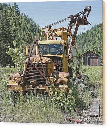 Logging Truck - Burke Idaho Ghost Town Wood Print by Daniel Hagerman