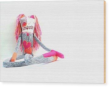 Lollipop The Zombie Raver Wood Print by Oddball Art Co by Lizzy Love