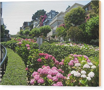 Lombard Street Wood Print by Dany Lison
