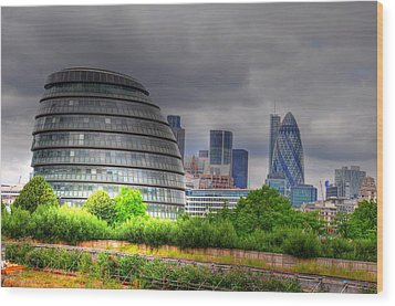 London Art Wood Print by Barry R Jones Jr