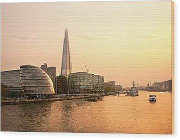 London At Dusk Wood Print by Svetlana Sewell