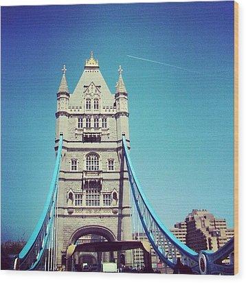 London Bridge, May - 2012 #london Wood Print by Abdelrahman Alawwad