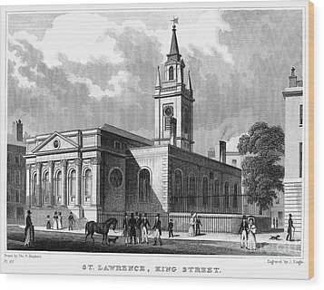 London: Church, C1830 Wood Print by Granger
