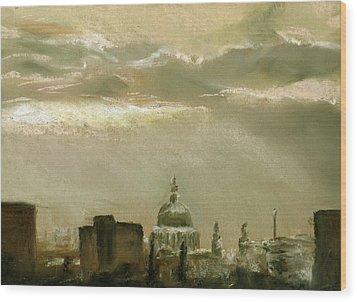 London City Dawn 2 Wood Print by Paul Mitchell