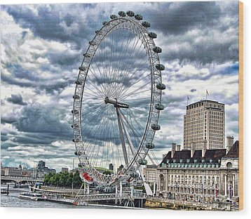 London Eye Wood Print by Graham Taylor