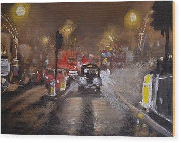 London Fog 1 Wood Print by Paul Mitchell