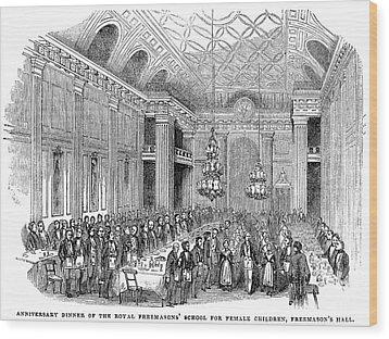 London: Freemasons Hall Wood Print by Granger