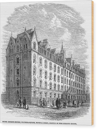 London: Lodging House Wood Print by Granger