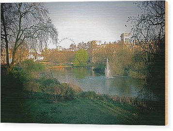 Wood Print featuring the photograph London Park by Blake Yeager